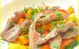 Sauté d'agneau express, légumes d'automne