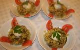 Risotto de pommes de terre aux cèpes et œufs mollets
