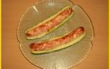 Courgettes gratinées aux saucisses