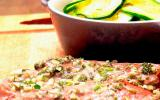 Steaks d'agneau à la romaine, poêlée de courgettes au thym