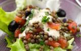 Salade de lentilles et de tomates cerises