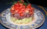 Timbale de thon rouge et ses légumes