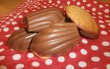 Madeleine badiane et coque en chocolat