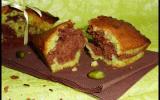 Minis cakes marbré pistache et chocolat
