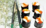 Makis oeufs de saumon fenouil