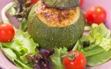 Courgettes rondes farcies à la ricotta, tomates séchées et Parmesan