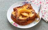 Panettone façon pain perdu aux pommes poêlées