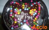 Un gâteau au chocolat