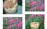 Verrine printannière rhubarbe-fraise au crumble de noisettes