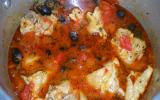 Ragoût de poulet à l'orange et aux olives noires