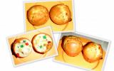 Muffins aux fruits confits et chocolat blanc