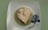 Nougat glacé et coulis de kiwi