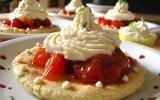 Tartelettes sucrées de tomates confites et chantilly de basilic-citron