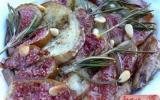 Tian de figue et d'aubergine, romarin et pignons