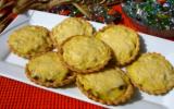 Mini quiche au fromage, poulet et champignons