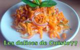 Salade acidulée de surimi et cacahuètes