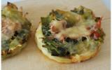Tartelettes aux poireaux, jambon cru et Comté