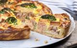 Quiche au saumon, brocolis et fromage râpé Sublime Filante Giovanni Ferrari