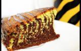 Gâteau zébré chocolat-amandes
