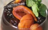 Salade de Pruneaux d'Agen, abricots et oranges au vin de Bordeaux