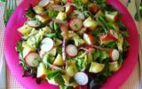 Salade de pommes de terre chaudes au camembert de Mandoline