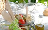 Sucettes roquefort cranberries, salade et vinaigrette roquefort