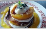 Millefeuille de tuiles aux abricots et pistaches