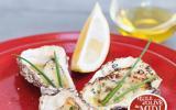 Huîtres chaudes à l'huile d'olive