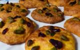 Cookies salés aux carottes, pistaches et airelles