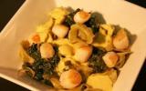 Cappelletti aux épinards et pétoncles sauce pistils de safran de Mazan