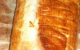 Saumon en croûte au poireaux et beurre d'escargot