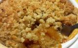 Crumble aux coings et abricots