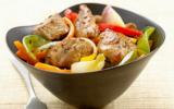 Sauté de porc et légumes de saison