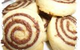 Biscuits roulés au chocolat noir & praliné