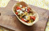 Tacos veggie avocat et tomates