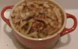 Pasta à la salade cuite, tomates confites, noix et crème