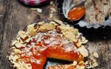 Shortbread tartelettes à l'abricot et aux amandes