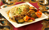 Escalope de veau aux lardons et champignons, sauce Marsala