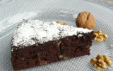 Fondant douceur au chocolat, crème de marrons et noix