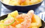 Crevettes sautées à l'ananas M'les Fruits