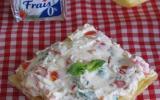 Tartine au carré frais®, tomates cerises, menthe et citron