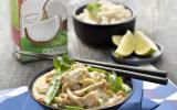 Poulet curry coco et légumes verts