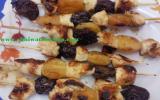 Brochettes de poulets aux fruits secs