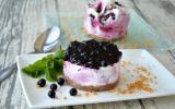 Tartelette myrtilles façon cheesecake glacé