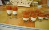 Verrine pesto crème de parmesan tomates confites