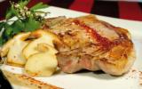Côtes de veau aux champignons de saison et Piment d'Espelette