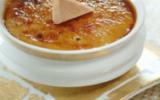 Crème brûlée exotique au foie gras