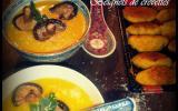 Velouté de potiron aux saveurs d'Asie et beignets de crevettes