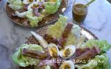 Salade de boeuf et Williams en pesto rouge