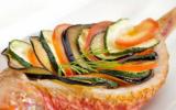 """Rouget Colbert, écailles de légumes à la Fourme d""""Ambert"""